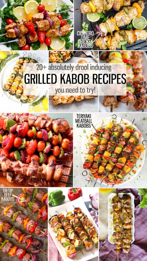 Summer is the prefect time for ADVENTURE and GRILLING!! Let's combine the two and get creative with our KABOBS!! Here is a big old list of delicious and creative Kabobs for you and your grill to try this summer. |Cooking with Karli| #summer #grilling #kabobs #chickenkabobs #steakkabobs