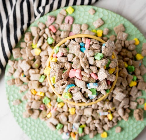 muddy buddies with lucky charms