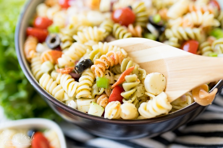 bbq side dish- Italian pasta salad