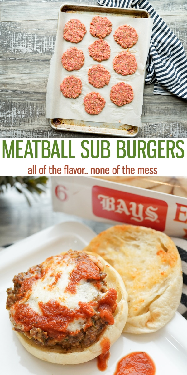 Meatball Sub Burgers are the perfect weeknight meal! All of the flavor of a Meatball Sub made into a patty instead! Less mess, ALL the flavor! |Cooking with Karli| #burgers #creative #meatballs #meatballsub #summer