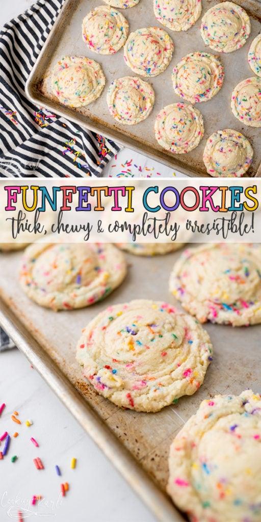 Funfetti cookies pin image