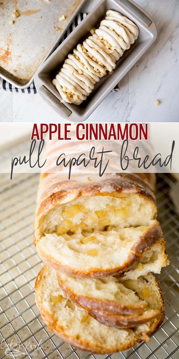 pin image for apple pull apart bread