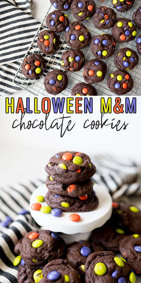 pin image for halloween m&m cookies