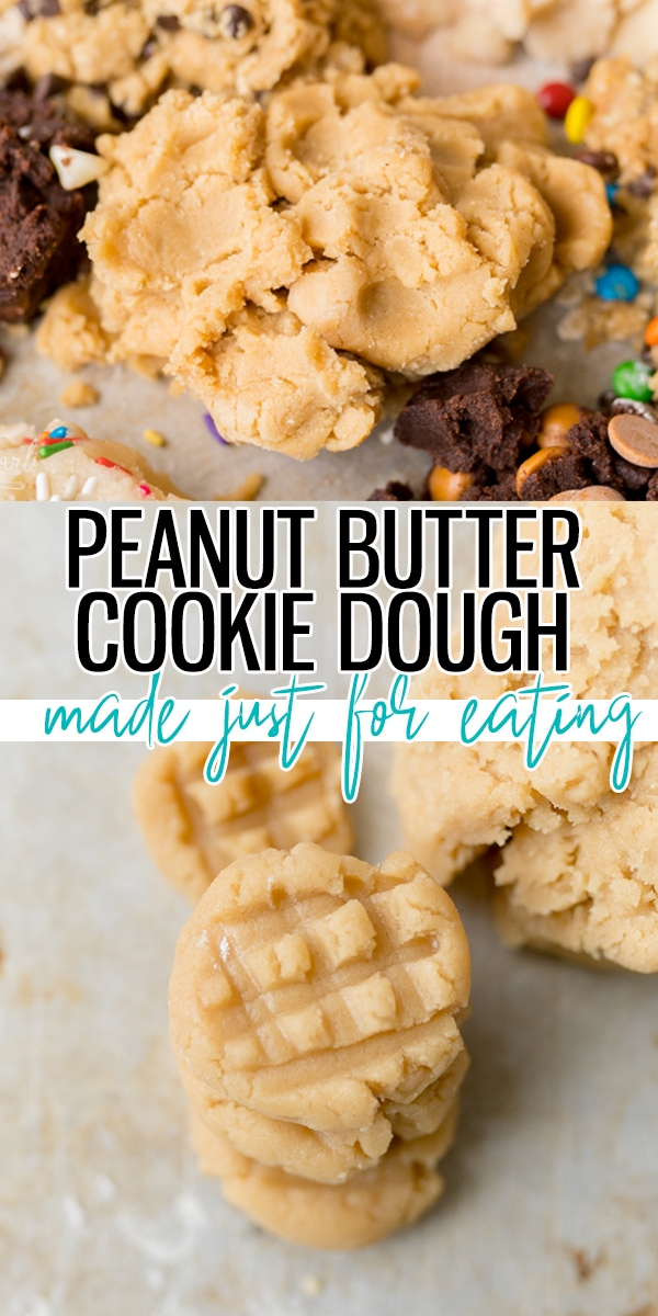 pin image for peanut butter cookie dough