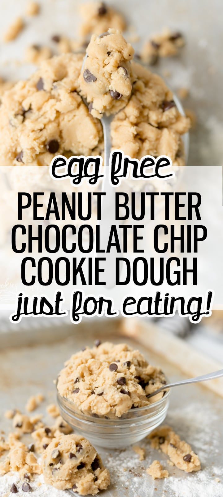 peanut butter chocolate chip cookie dough pin image