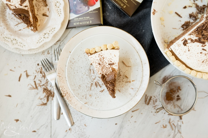 finished chocolate cream pie recipe