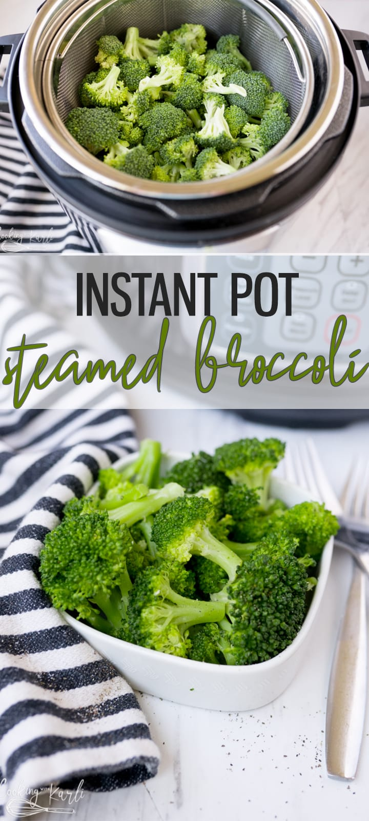 pin image for Instant Pot Broccoli