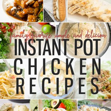 In this post you'll find a collection of the TOP 15 Instant Pot Chicken Recipes you must try! Not only are all of these recipes extremely easy, they are tested and fail-proof recipes.