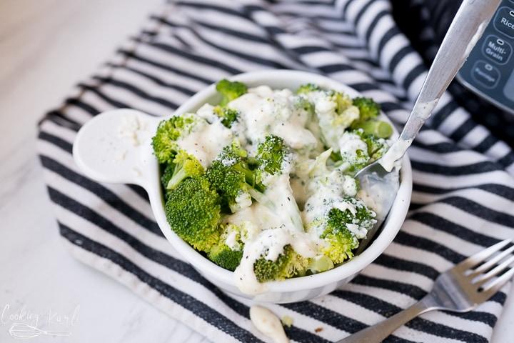 creamy cheesy broccoli
