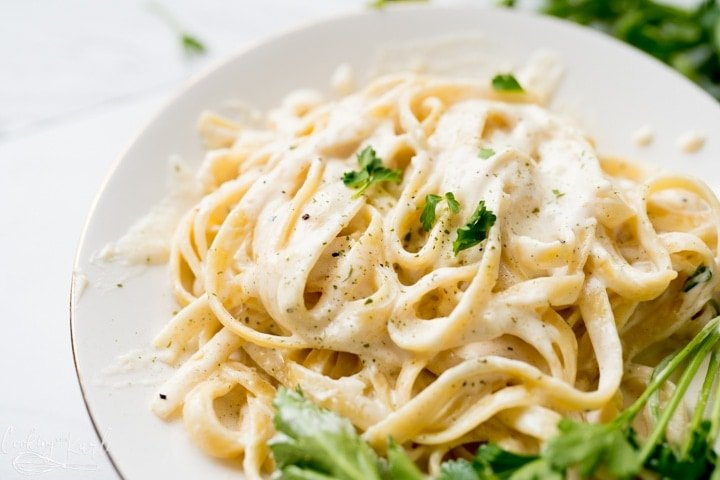 fettuccine Alfredo Recipe made in one pot