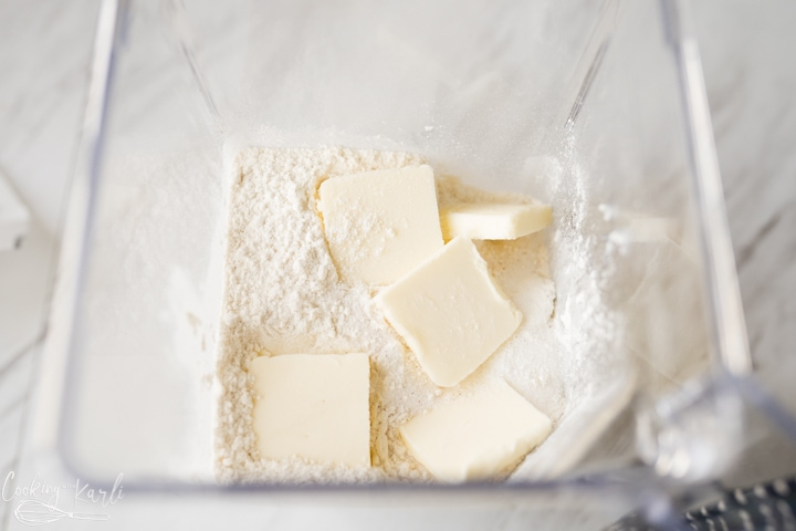 flour and butter for the pie crust recipe