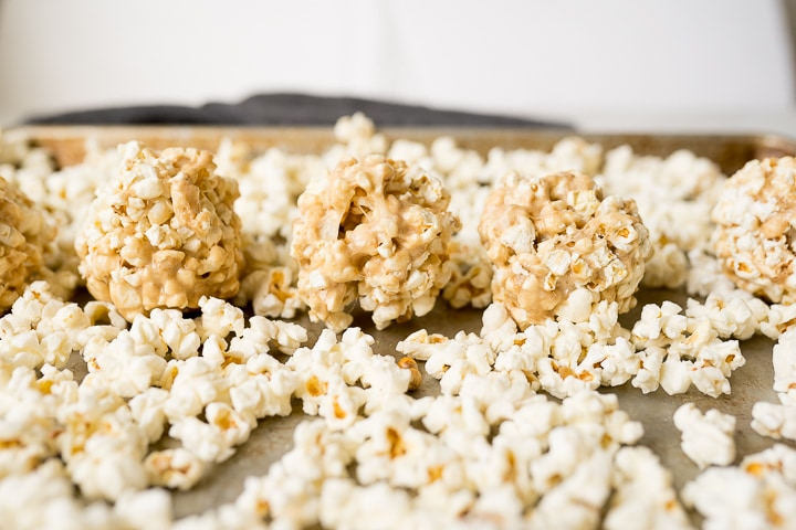 popcorn ball recipe with caramel
