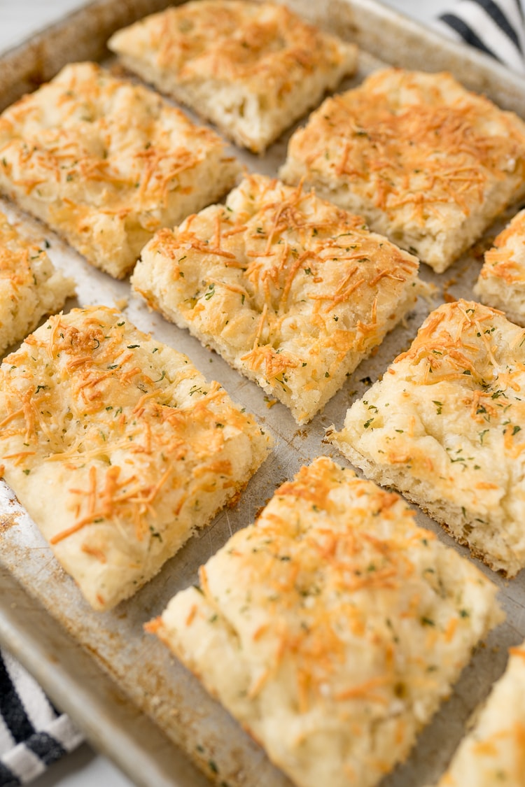 focaccia bread recipe, baked