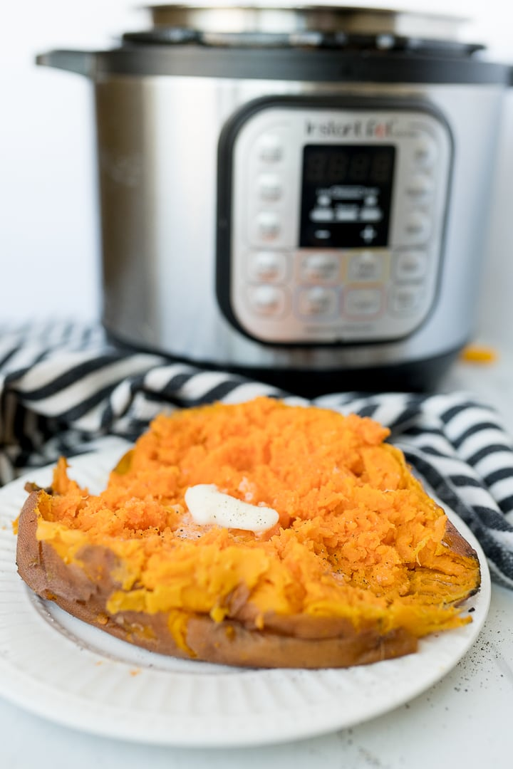 Instant Pot sweet potatoes, finished