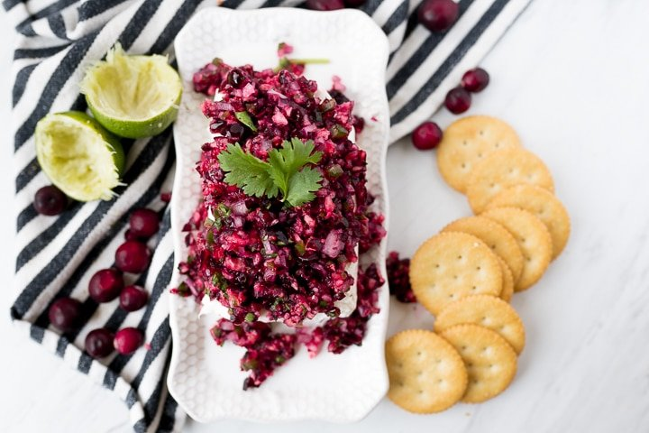 cranberry salsa recipe served