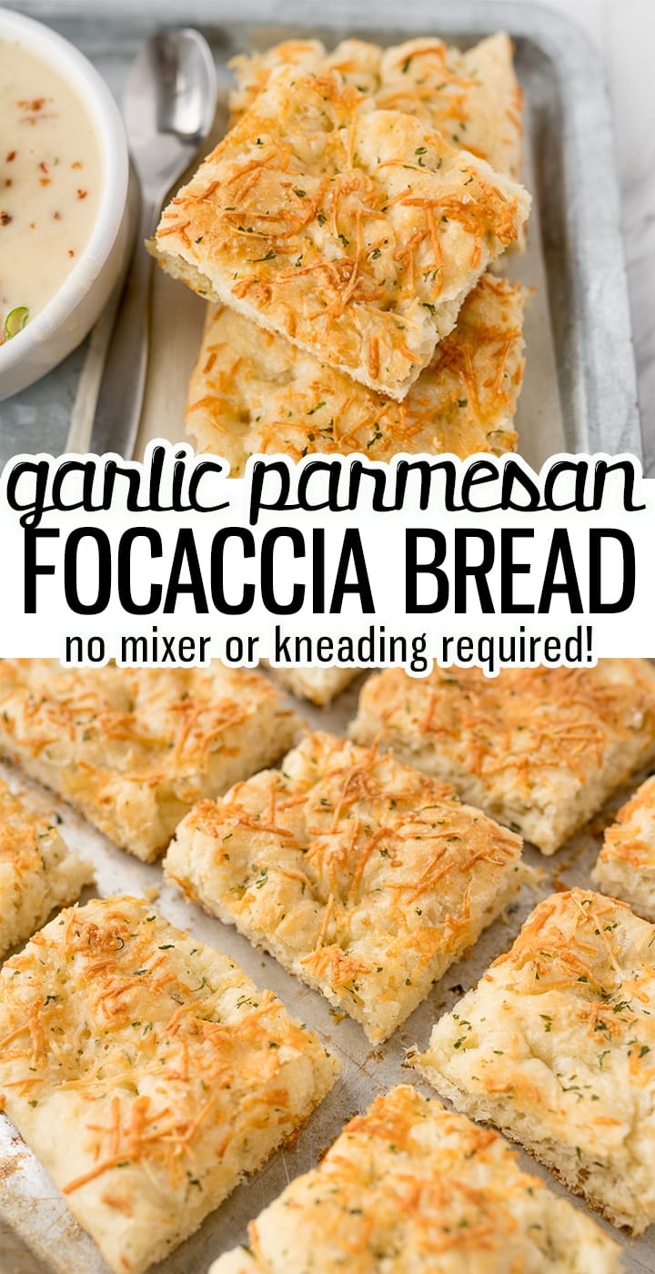Pinterest image for focaccia bread