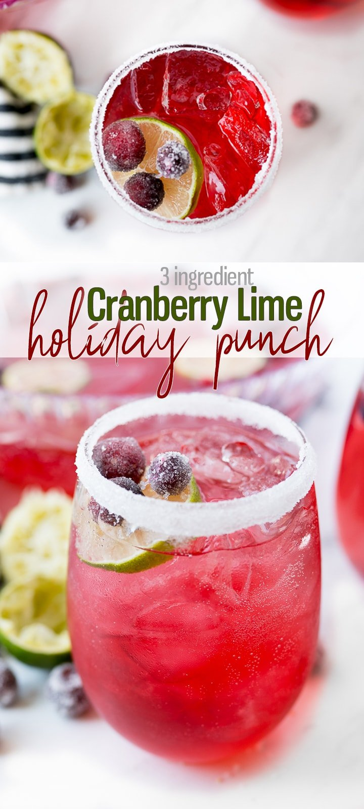 Holiday Punch Recipe Pin Image