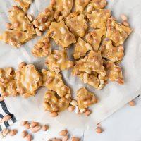 Peanut brittle, broken into pieces