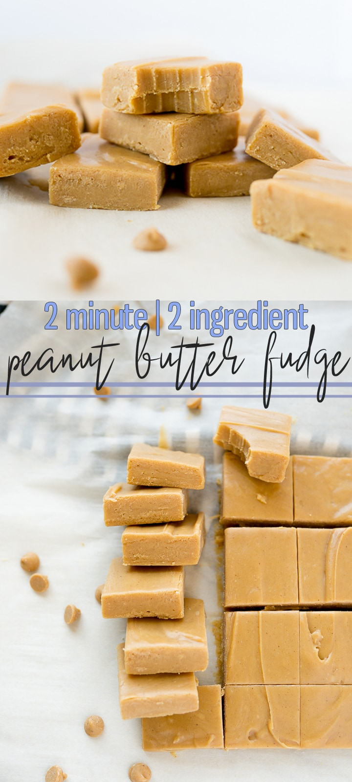 pin image for peanut butter fudge
