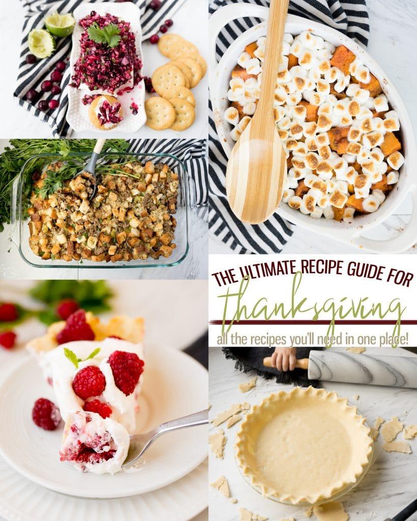 Various thanksgiving recipe images