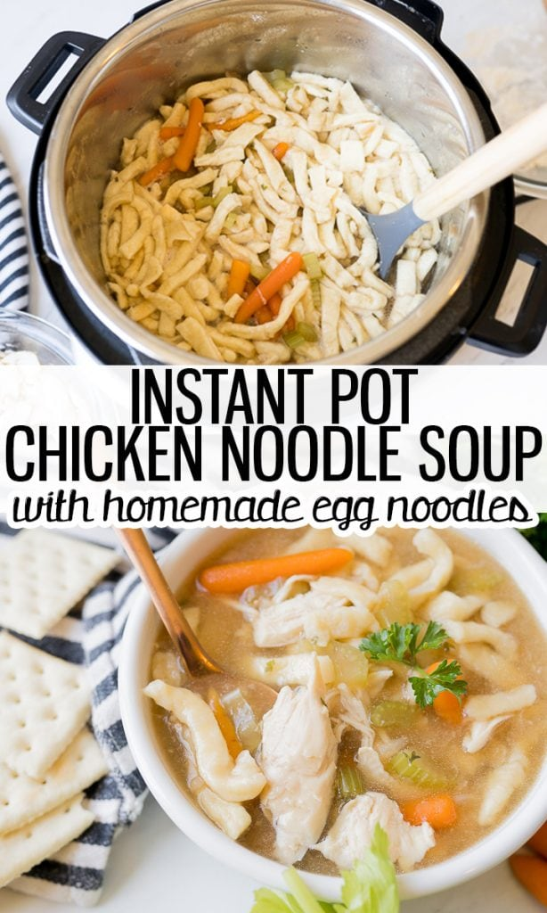pin image for Instant Pot chicken noodle soup