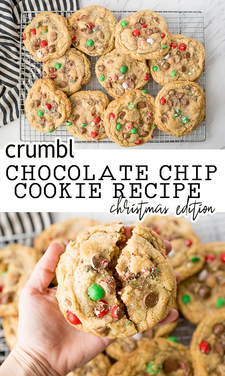 pin for Christmas crumbl cookies
