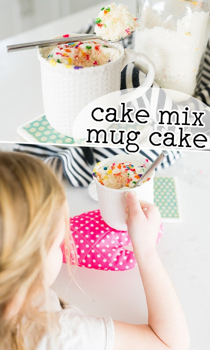 2 Ingredient Funfetti Mug Cake Cooking With Karli
