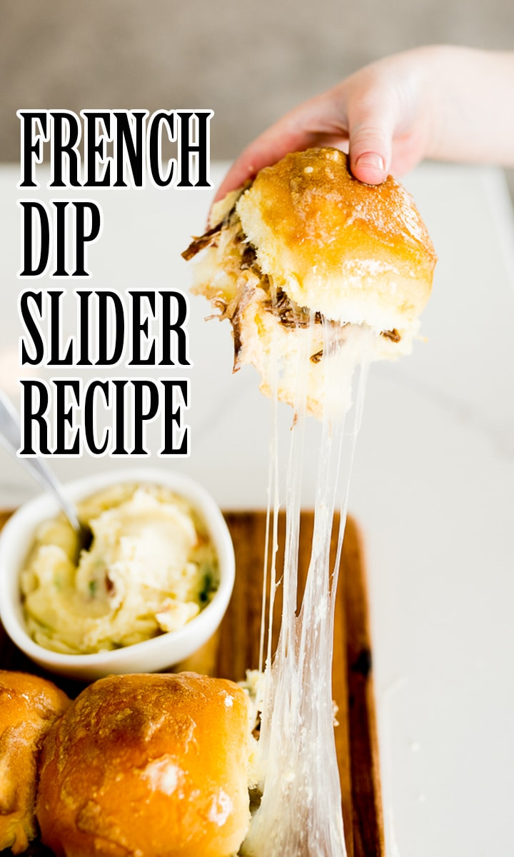 pin image for French dip sliders