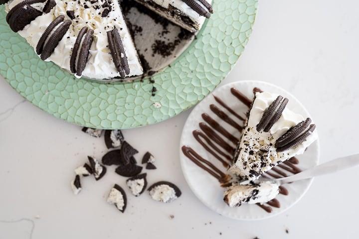oreo cheesecake, final photo