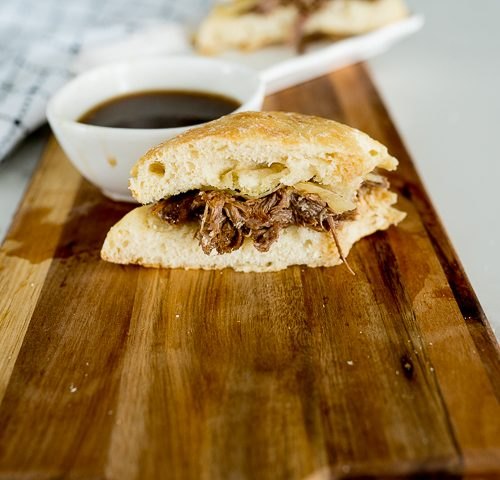 French dip sandwiches made in the slow cooker