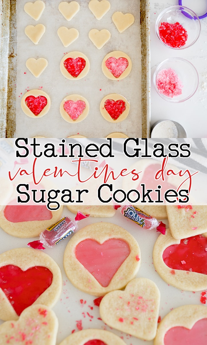 pin image for stained glass cookies