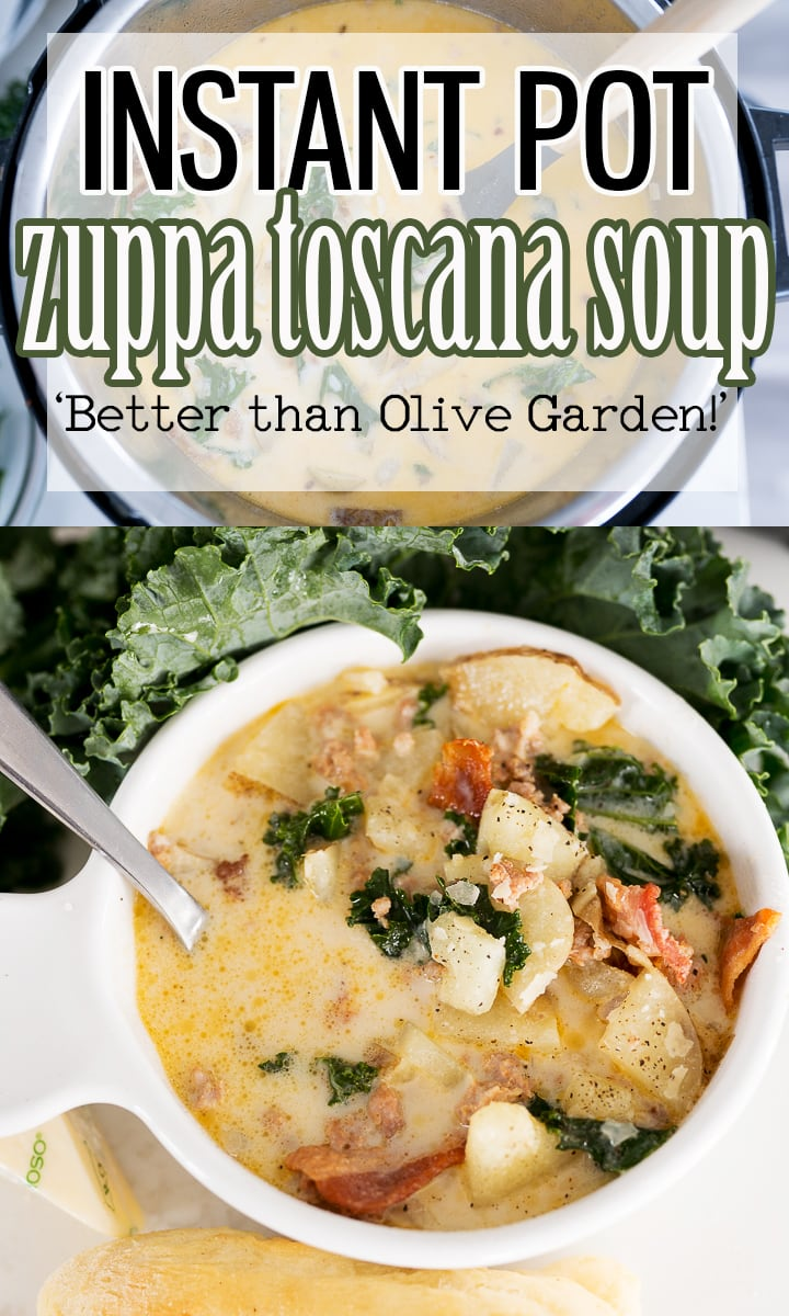 Pinterest image for zuppa toscana soup recipe