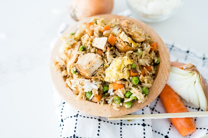 Fried rice recipe with chicken