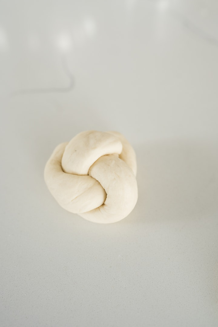 dough tied into a knot