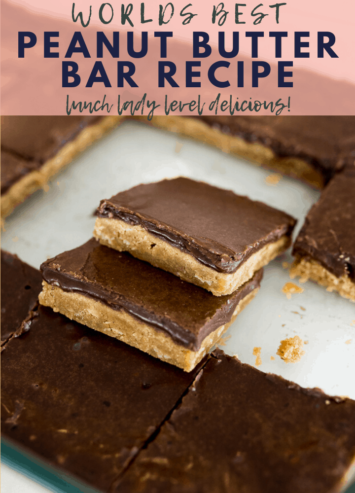 pin image for peanut butter bar recipe