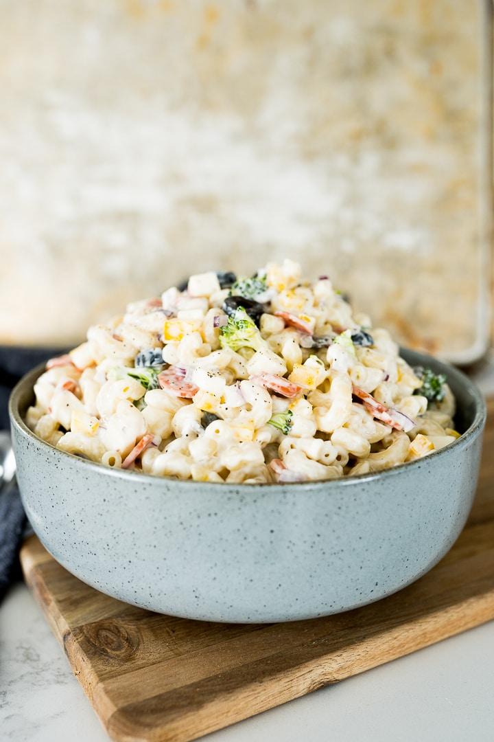 creamy macaroni salad photo