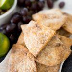 cinnamon and sugar tortilla chips