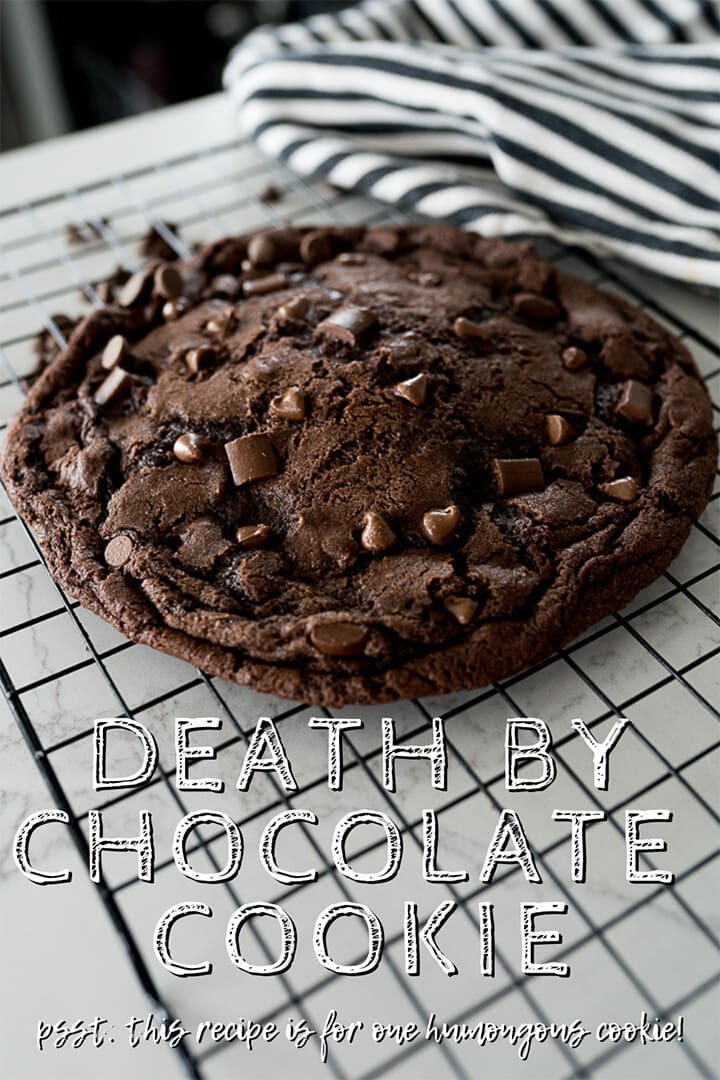 pin image for giant chocolate cookie