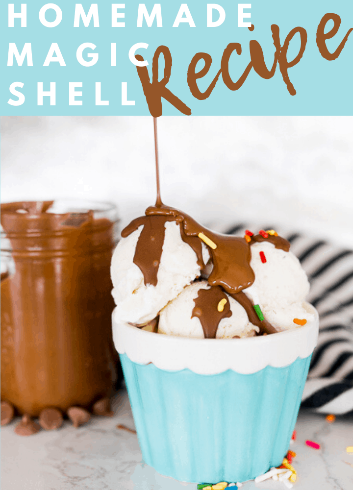 pin image with text for homemade magic shell recipe