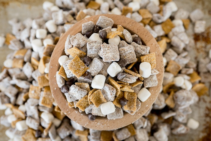 S'mores snack mix with muddy buddies