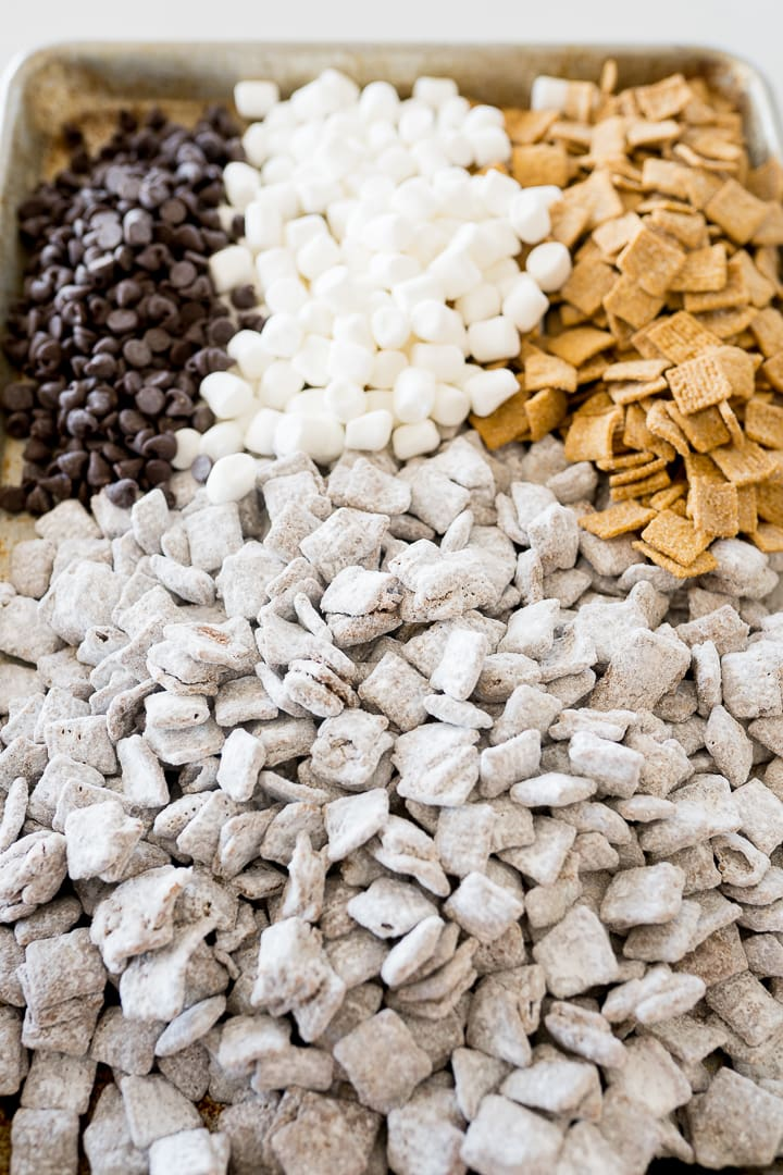 S'mores muddy buddy snack mix ingredient photo