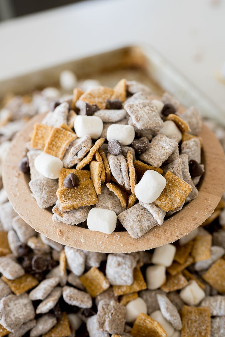 s'mores with muddy mix snack