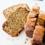 Banana Bread recipe, sliced and served
