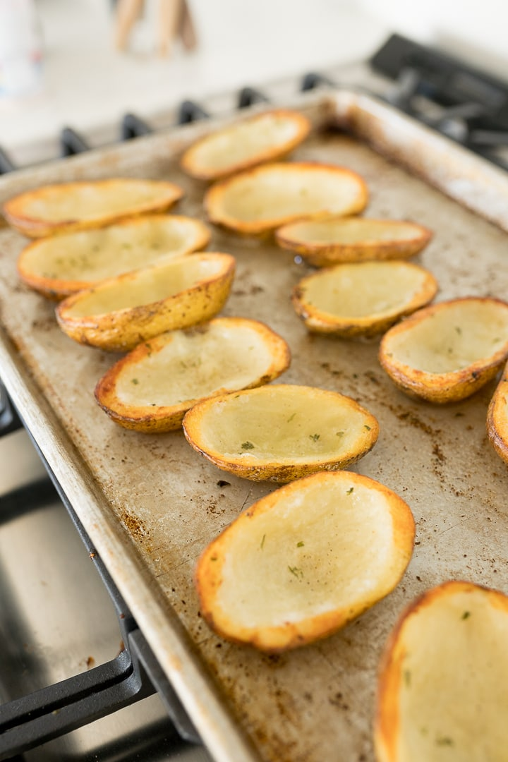 potato skins before adding in the toppings