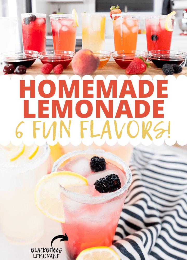 Pin image for flavored lemonade post