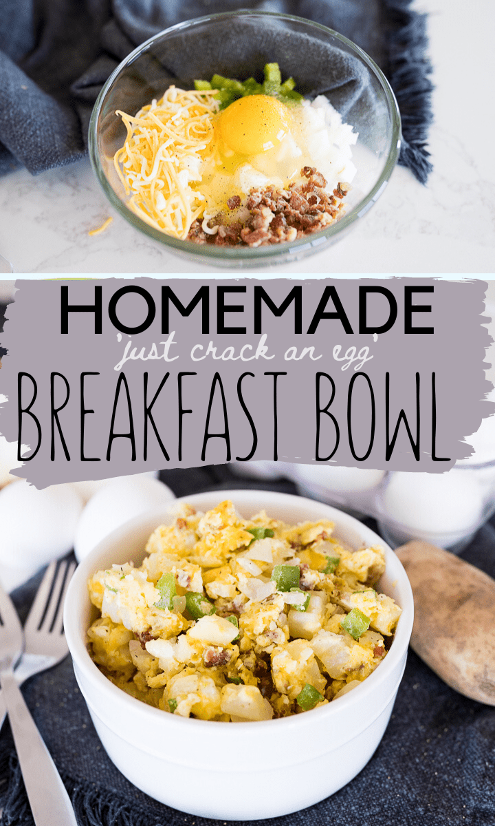 Pin image for microwave breakfast bowl
