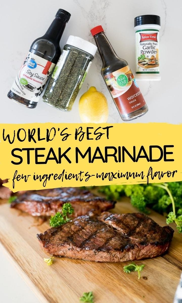 Pin image for steak marinade