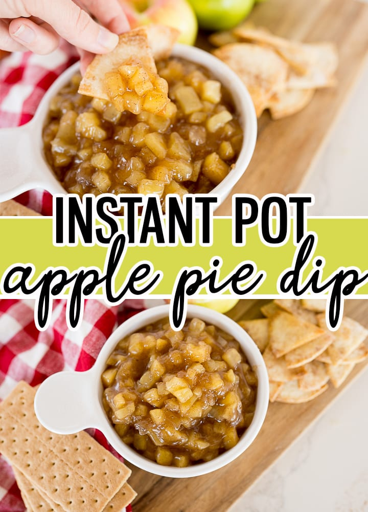 pin image for apple pie dip