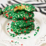 sprinkle cookies with red and green sprinkles