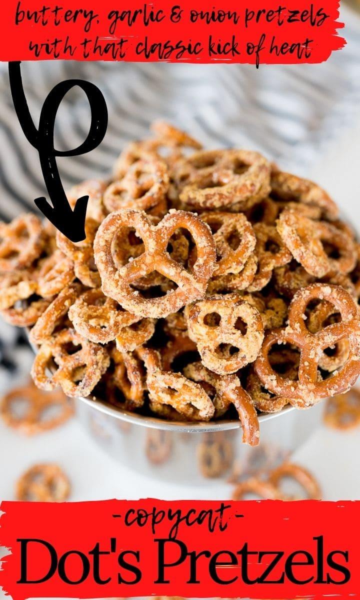 pin image for dot's pretzels